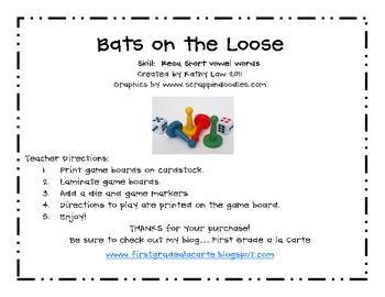 Bats on the Loose--Short Vowel Games