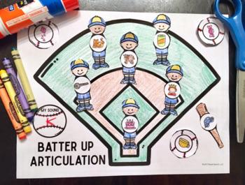 Batter UP! Articulation: A Speech Therapy Craft Activity