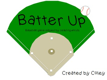 Batter Up: A baseball game for Sight Words & Long Vowel Words