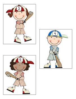 Batter Up!  Addition Facts 1 to 10