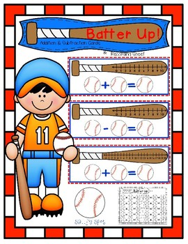 Batter Up! Addition & Subtraction Activity