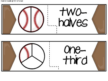 Batter Up: Baseball Fraction Centers and Activities