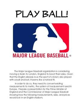 Batter Up!  Baseball Measurement Conversion Problem Based Learning Unit