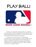 Batter Up!  Baseball Measurement Conversion Problem Based