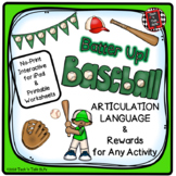 Batter Up!  Baseball  Rewards - No Prep Articulation and L