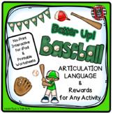 Batter Up!  Baseball  Rewards - No Prep Articulation and L
