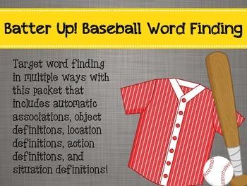 Batter Up! Baseball Word Finding