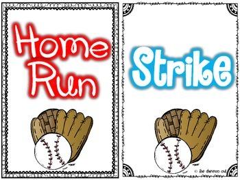 Batter Up!  Baseball Write the Room and ABC Order MEGA Pack