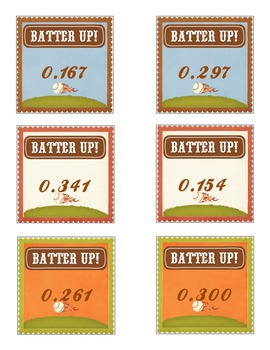 Batter Up! Comparing and Ordering Decimals through the thousandths