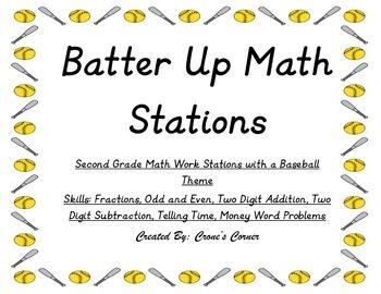 Batter Up Math Stations!