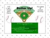 Batter Up!- Mixed addition and subtraction 1-10 math facts game