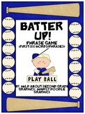 Batter Up!  Phrase Game For Fry's First 100 Words