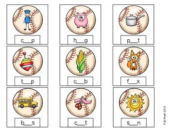 Baseball: Batter Up Short & Long Vowel Words