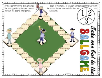 Batter Up: -Tch, -Ch, and -Cket Word Work Activities