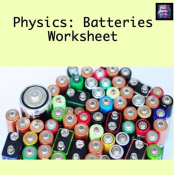 Batteries Worksheet