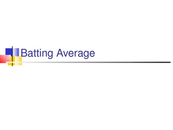 Batting Average
