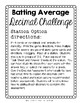 Ordering Decimals to Thousandths: Batting Averages Game/Activity/Station