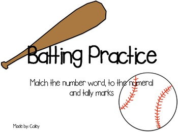 Batting Practice: Number Match Game (1-20)