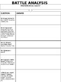 Battle Analysis Worksheet