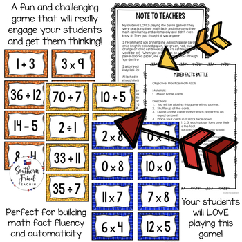 Math Facts BUNDLE - Fun Game to Practice Math Facts