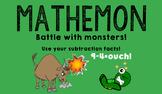 MATHEMON - Subtraction Fact Fluency Card Game (Like Pokemon)