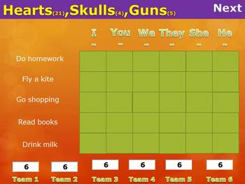 Battle Game for Simple Present Tense 2