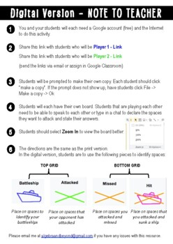 One-Step Equations Activity - Battle My Math Ship Game