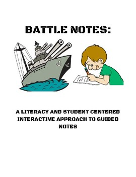 Battle Notes:Europe Government- a unique strategy for literacy and guided notes