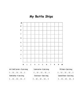 Battle Ship Coordinating Graphs