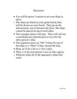 Battle Ship Math Game