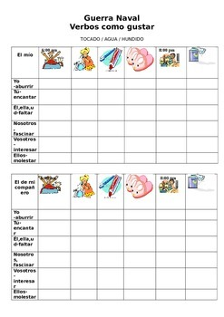 Battle Ship for Verbs Like Gustar with Reflexive Verbs Des