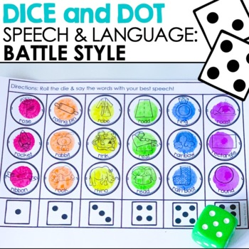 Battle Style Dice and Dot For Articulation