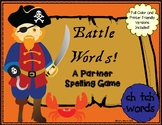 Battle Words Spelling and Phonics Game- CH and TCH Words