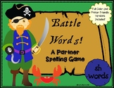 Battle Words Spelling and Phonics Game- SH Words