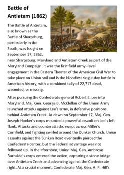Battle of Antietam Handout