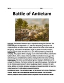 Battle of Antietam - Sharpsburg Lesson Informational article facts questions
