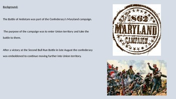 Battle of Antietam Sharpsburg- Power Point - Full Review Facts Pictures