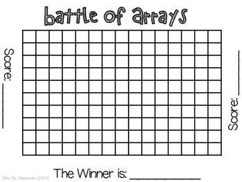 Battle of Arrays (Multiplication Activity)