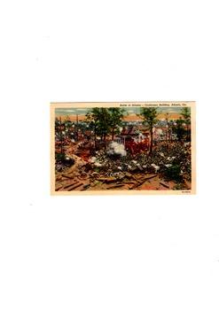 Battle  of Atlanta - Cyclomarama Building Digital Print of a 1940's Postcard