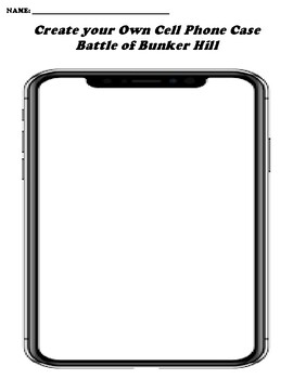 Battle of Bunker Hill CREATE YOUR OWN CELL PHONE COVER