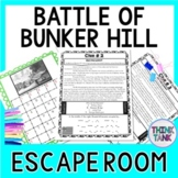 Battle of Bunker Hill ESCAPE ROOM:  Revolutionary War - Print & Go!