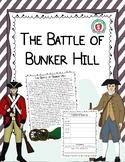 Battle of Bunker Hill - Reading Comprehension Worksheet & Activity