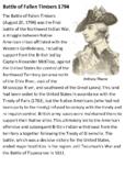 Battle of Fallen Timbers 1794 Handout