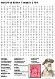 Battle of Fallen Timbers Word Search