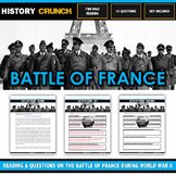 Battle of France during World War II - Reading, Questions and Key