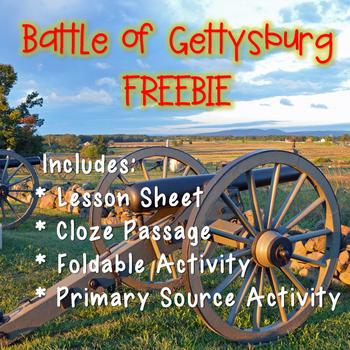 Battle of Gettysburg Freebie