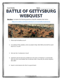 Battle of Gettysburg - Webquest with Key (American Civil War)