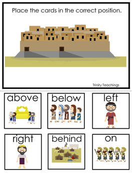 Battle of Jericho Positional Game printable game. Preschool Bible Study Curricu