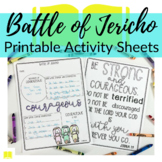 Battle of Jericho Printable Activity Sheets for Sunday School