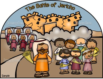 Battle of Jericho craft- Bible craft for kids
